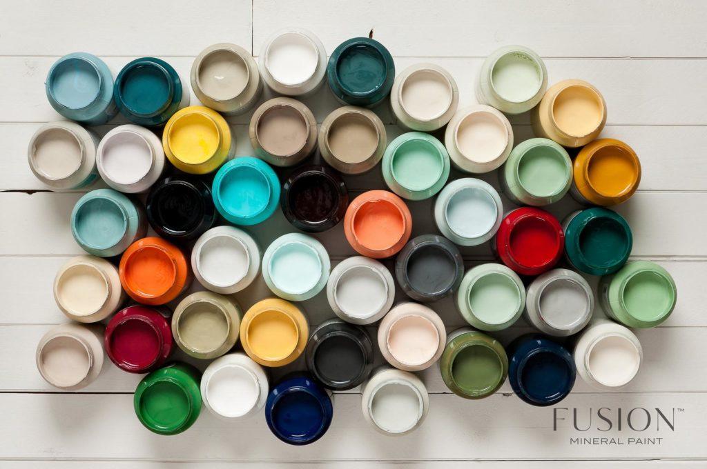Kolory farb do malowania mebli Fusion